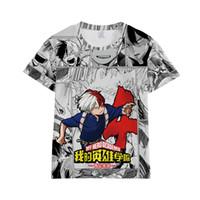 Kahramanım Academia tişört OCHACO URARAKA Midoriya Izuku Himiko Toga Todoroki Shoto Boku no Kahraman Academia Erkekler T Shirt Tee Tops