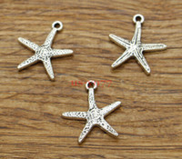 Charms Starfish Beach Sea Fish Charms Vita marina Commercio all'ingrosso 100 pz / lotto tono argento antico 18x21mm 1987