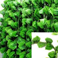 홈 정원 장식 시뮬레이션 가짜 꽃 등나무를위한 12PCS 인공 녹색 식물 덩굴 벽 매달려 가짜 잎 식물