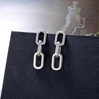2019 Mehrschichtige Lange Geometrische Ohrringe für Männer Frauen S925 Sterling Silve Anhänger Ohrring Boucle d'oreille Femme