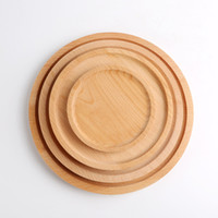 접시 차 서버 호텔 트레이 컵 홀더 볼 패드 식기 사용자 정의 VF1612 플래터 라운드 나무 접시 접시 디저트 플레이트 초밥 접시 과일