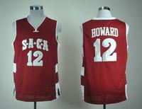 SıCAK SACA Lisesi Dwight 12 Howard 12 Formalar Erkek Basketbol Forması Vintage dikişli Gömlek klasik hız ÜST cadılar bayramı