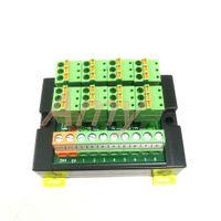 Freeshipping PLC terminal bloğu modülü sensörü 3 telli 8 bit giriş ve çıkış DIN raylı bahar kablolama LED