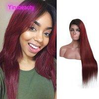 Peruivan человеческие волосы 1b / 99J Ombre Virgin Hair Hair Front Frighs Silky Prime 1B 99J кружевные фронтальные парики 13x4 кружевные фронтские парики 10-22 дюйма
