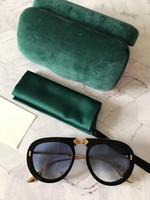 رجل جديد النظارات الشمسية 0307 مصمم نظارات شمسية الرجل للرجال والنساء نظارات شمسية UV400 oculos عدسة مع مربع