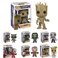 ht hxldoor FUNKO POP Guardians Of The Galaxy Toys Figure doll Dancing GROOT Marvel Bobble Head Mask Star Lord Rocket Raccoon Gamora Drax