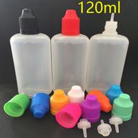 2018 120 ml bouteilles vides en PE compte-gouttes en plastique bouteille 120 ml bouteille d'aiguille d'e-liquide de haute qualité avec bouchon inviolable à l'épreuve des enfants