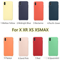 Official Pure liquid Silicone Cases For iPhone X XS XR XSMAX...