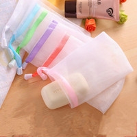 Soap Saco Espuma malha ensaboou Luva para Espuma de Limpeza sabão de banho de líquido Luvas de limpeza do banheiro malha Esponjas Ferramentas RRA1891