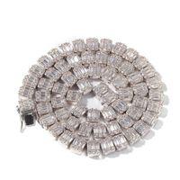 Catene ghiacciate di gioielli hip hop uomini collana full diamante micro cubico zirconia set di rame collana diamante pane quadrato diamon