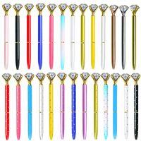 الماس kawaii جميلة قلم رصيف الكريستال الماس القلم للمدرسة مكتب المرأة الزفاف الزفاف دش الديكور هدايا