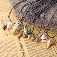 Vinswet Boho Conch Sea Shell Ожерелье Гавайи-Бич Лето Ожерелье Ocean Seashell Подвеска Для Женщин Cowrie Shell Ювелирные Изделия Свадебные