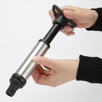Wein-Stopper mit Vakuumpumpe Bar Zubehör Luftschloss Stahlflasche Edelstahl Frische Stopper Wein halten Belüfter Saver Sealing S6V0
