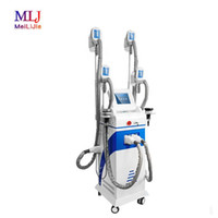 Original 4 handles frozen fat multifunction vacuum cavitation system body slimming shaping device for home and beauty salon
