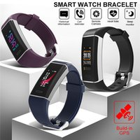 W7 Smart-Armband GPS Herzfrequenzmesser Fitness Tracker Sports Smart Watch Wasserdicht Farben-Schirm-Armbanduhr für iOS Android iPhone-Uhr