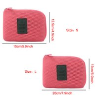 Viaggi esterna antiurto Digital Storage Bag Due formato leggero portatile cavo di ricarica sacchetti di immagazzinaggio auricolare Organizzatore DH01015-2 T03