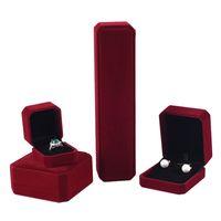 Contenitore di gioielli quadrato Set Gioielli da sposa Anello per orecchini dell'orecchino del braccialetto del braccialetto del supporto del supporto del supporto del supporto del braccialetto