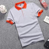 Nova Mens Pólo Camisa Marcas 2019 de alta qualidade Masculino de Manga Curta Moda Casual Magro Bordado Impressão Homens Polos XXXL Polo jersey