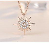 New 925 Стерлинговое серебро Солнце и Луна Звезда Ожерелья Сеть Пара Небесных Лучших друзей Подарок для друзей Длинные Ожерелья Подвески Мужчины Женщины