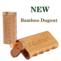 Le tube de fumée Boîte de bambou naturel de haute qualité avec cigarette de design antidérapant contenant des accessoires de fumer en céramique