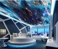 Fantasia colorata stellata soffitto murale 3D Soggiorno Camera da letto soffitto Wallpaper Papel De Parede