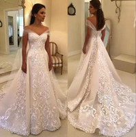 White Ivory Wedding Dresses Bridal Ball Gowns Off Shoulder E...
