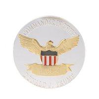 Donald Trump 2020 Coin American President Monnaies commémoratives Gardez l'Amérique Grande Gold Silver Badge Élection Supplies Shippng gratuit