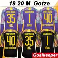 19 20 M. GOTZE REUS Long Sleeve Goalkeeper Mens Soccer Jersey...