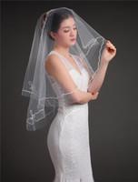 2020 가장 저렴한 신부 웨딩 베일 신부 여행 스타일링 한 레이어 Tulle Bridal 베일 짧은 결혼식 파티 여성 헤어 액세서리
