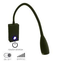 Топоч интерьер настенный светильник лампы матовый черный с прикосновением / выключением / диммер переключатель 3W CREE светодиодный светлый здоровый цвет для домов RVS лодки