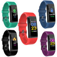 115Plus Smart Fitness Braccialetto Braccialetto Tracker Colorful Schermo Blood Pressure Monitor Donne Guarda per Samsung Xiaomi