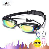 Профессиональный плавательные очки плавательные очки с затычки для ушей носа гальванизируют зажим водонепроницаемый Силиконовый взрослых