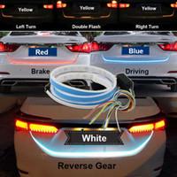 1 Adet 1.2m 12V Araba Dört Renk Akış Tipi 36 LED Araç Altı Şerit Su geçirmez Fren Sürüş Dönüş Sinyal Işık