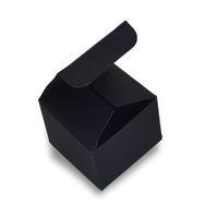 50 pçs / lote rosto creme garrafa de armazenamento de papel preto caixa dobrável jóias embalagem caixas de papelão caixa de pacote de garrafa