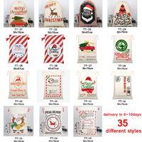 35 Stili Borsa da regalo di Natale sacchetti con cordoncino con rennes claus-bag per Bambini Santa Sack