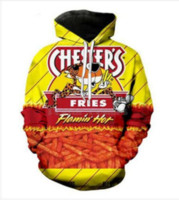 Mode Streetwear 3D HD Imprimer Casual Hot Cheetos Hoodies Sweat Hommes Hommes À Capuche Veste Manteau LMS020