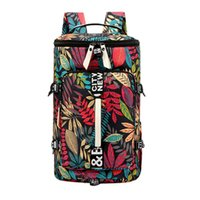 Men and Women Printing Multi-Function Large Capacity Three Users Outside Leisure Fresh Travel Backpack Dry and Wet Separation Ca