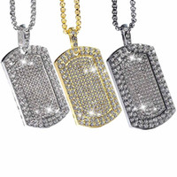 Mens Iced Out Pendant Chain Hip Hop Rappers Micro Octagon Sq...