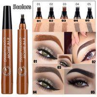 SUAKE 4-TIP Flüssigkeit Augenbrauenstift Wasserdicht Microblading Gabelspitze Feine Sketch-Augenbraue Tattoo Tint Pen Korean Kosmetik
