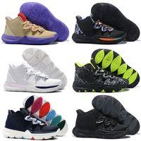 new arrivals 1cd26 b6d17 Zapatillas de baloncesto 5s Conceptos de neón Ikhet Taco Black Magic CNY  2019 Chaussures Irving 5