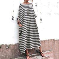 Designer Designer pannelli Abiti maternità Casual Femminili Abbigliamento Plus Size Womens Casual Abiti Casual Striscia di moda Stripe Tasche