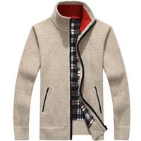Marke Pullover Männer Strickjacke Männlichen Fleece Standard Wollpullover Männer Ziehen Homme Strickjacke Männer Mode Outwear Mäntel Größe 3XL Männlichen Pullover groß