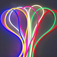 Neon Light 12V Светодиодная полоса SMD 2835 120LED / M Гибкие веревочные трубки Водонепроницаемая для DIY Рождественское праздничное Украшение Свет