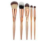 Beauty Tools 5pcs hochwertige Make-up Augenpinsel Set Herzförmige Rose Gold Kunststoffgriff Pinsel