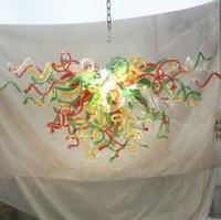Новый Американский Chihuly Стиль Люстры Лампы Украшения Дома Энергосберегающий Источник Света Ручной Выдувной Многоцветный Стеклянный Кулон