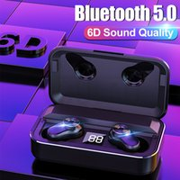 TWS Bluetooth 5. 0 6D Stereo Earphone Wireless Earbuds IPX5 W...