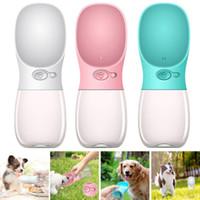 Haustierhund Wasserflasche für kleine große Hunde Feeder 350ml Reisen Welpen Katze Trinkschale Outdoor Dispenser Feeder Haustiere Produkt