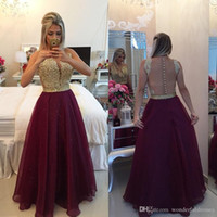 Burgundy Lace Crystal Party Gowns Sexy See Through Back A Li...