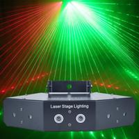 RGB 6 렌즈 스캔 레이저 빛 / 선형 빔 효과 스캐닝 레이저 빛 / 전문 레이저 쇼 시스템 프로젝터 / 빔 무대 조명