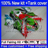 Cuerpo + tanque para Kawasaki ZX6R ZX636 2009 2010 2011 2012 206MY.23 ZX 6R 636 600CC ZX636 ZX600 ZX 6R ZX6R 09 10 11 12 carenados rojos verdes